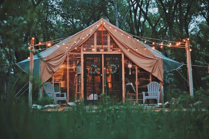 خيمة في نيو مكسيكو