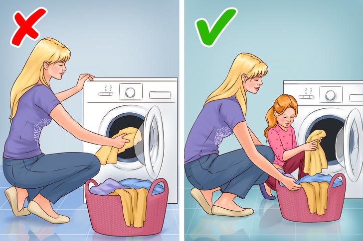 تربية الطفل : دع طفلك يساعدك