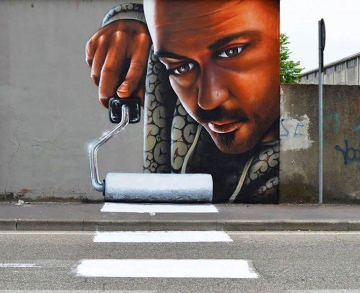 صورة روعة من فن الشارع