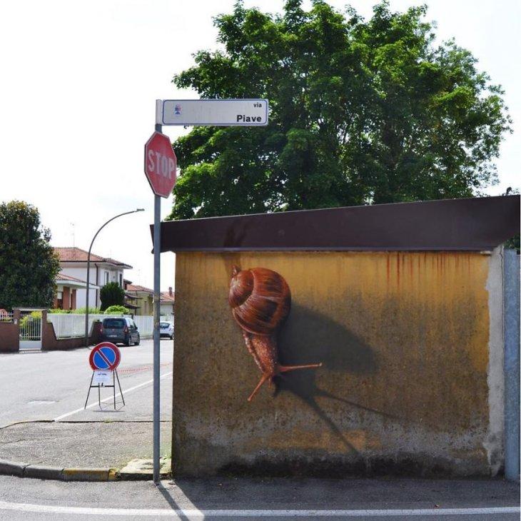 صور فن الشارع ثلاثية الابعاد