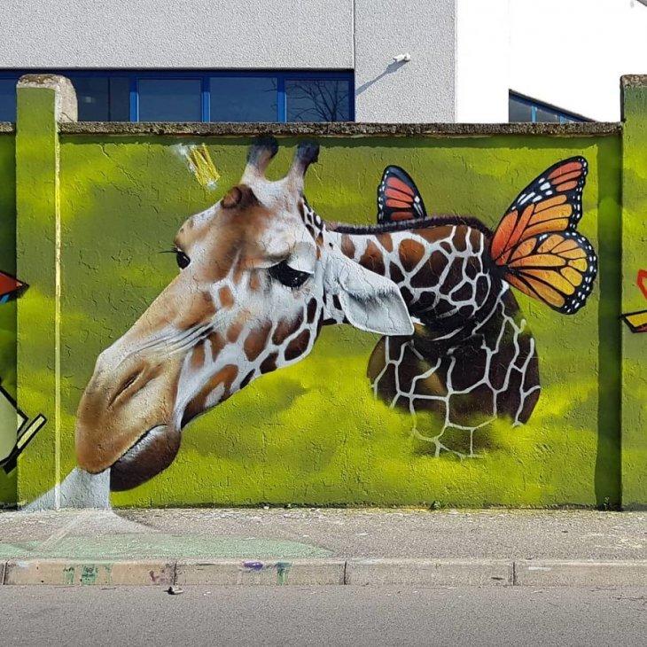 صورة من فن الشارع ثلاثية الأبعاد